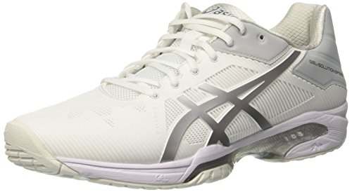 Asics ASICS Damen Gel-Solution Speed 3 Tennisschuhe, Mehrfarbig (Whitesilver), 37 EU