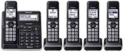 Panasonic Link2Cell DECT 6.0 Expandable Cordless Phone System with Digital Answering System - 5 Handsets - KX-TGF775S - Si... photo