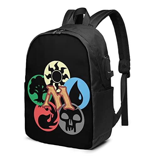LETNNTOPE Magia La Raccolta Viaggio Laptop Zaino Con Usb Ricarica Porta Scuola Escursionismo Bookbags Per Adulti