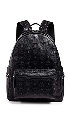 MCM Men's Stark Medium Side Stud Backpack, Black, One Size by MCM-Men's