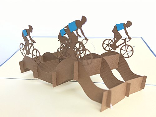 Cycling team, Bike, Sport 3D Pop up Grußkarte handgefertigt Happy Birthday Hochzeitstag Freundschaft Frohe Weihnachten Thanksgiving Thank You Best Wish Viel Glück Happy New Year Valentine 's Day rot
