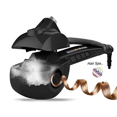 Fer à Boucler Automatique, Céramique Vapeur Boucleur de Cheveux Professionnel avec Affichage Numérique à LED 190℃-230℃ Fer a Friser pour les Cheveux Longs et Courts. (Noir)