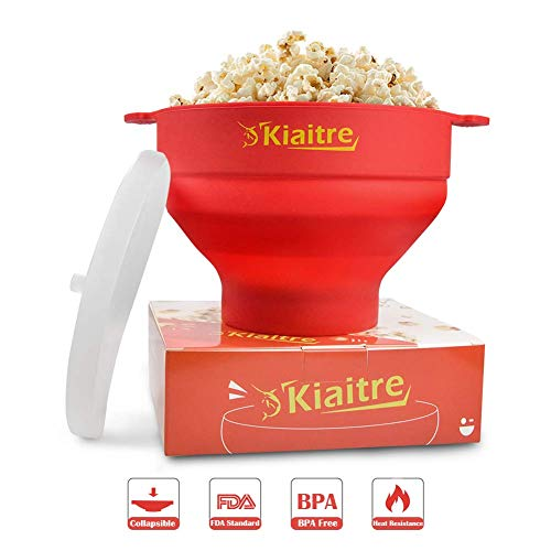 Cheap Kiaitre Microwave Popcorn Popper - Silicone Popcorn Popper with FDA Approved , Collapsible Pop...