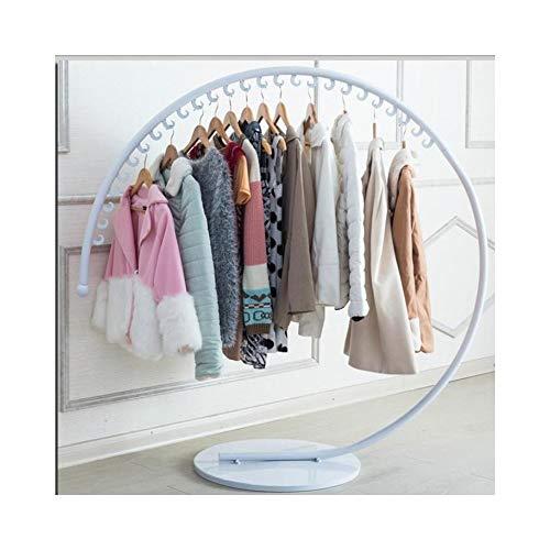 CZ-SQG Perchero Circular Perchero de Ropa Sombrero Hierro Forjado 26 Gancho for Colgar Perchero Creativo Soporte de exhibición de la Tienda de Ropa (Alto: 130 cm) (Color : White)