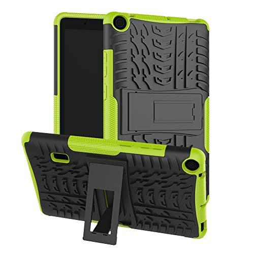 """Cover Huawei MediaPad T3 10(9.6"""") 2018 Custodia Protezione a 360 Gradi Custodia Protettiva Dual Layer [Tough et Resistente Armor] Bumper Case con Supporto per Huawei MediaPad T3 10 Tablet-Verde"""