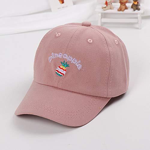 mlpnko Obst Schutzhelm Baseballmütze Kinder Hut Neue Kind Visier Baby Hut Sonnencreme Kappe Ananas Pulver 50-52cm geeignet für 2-7 Jahre alt