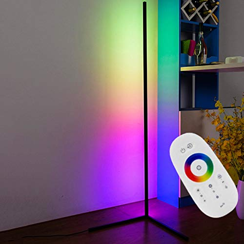 JAKROO LED Corner Floor Lamp, Nordic Style, LED Floor Lamp Dimmable Corner Lamp - Adjustable Brightness, for Living Room and Bedroom, Decorative Lighting,Weiß