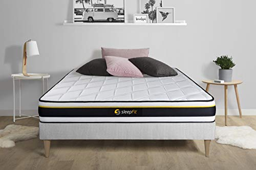 Colchón Soft 130x210cm, Grosor: 19 cm, Espuma de Alta Densidad con células Micro-Air, Muy Firme, 3 Zonas de Confort