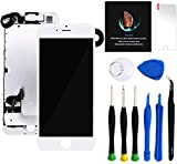 Keytas Compatible with iPhone 7 Plus Screen Replacement Kit White 5.5' LCD for iPhone 7 Plus 3D Touch Screen Digitizer Full Assembly with Front Camera+ Earpiece+ Tools Kit+ Screen Protector (White)