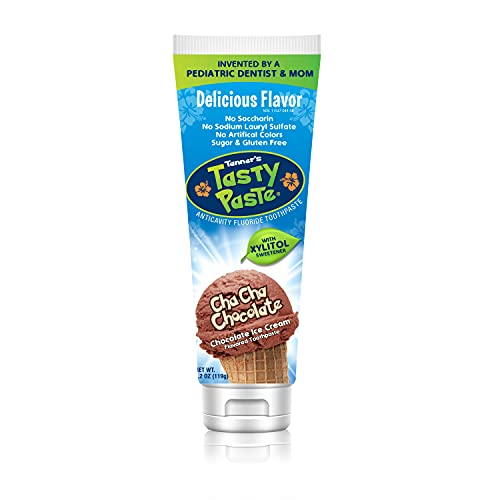 Tanner's Tasty Paste Cha Cha Chocolate - Anticavity Fluoride Children's Toothpaste/Great Tasting, Safe, and Effective Chocolate Flavored Toothpaste for Kids (4.2 oz.)