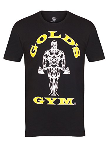 Gold´s Gym Ggts002 Camiseta, Hombre, Negro, Large