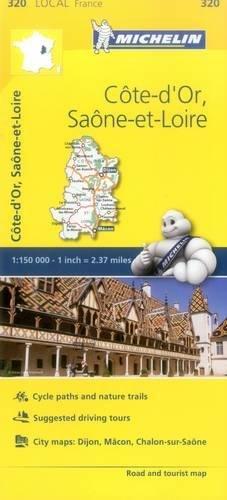 Cote-d'Or, Saone-et-Loire - Michelin Local Map 320 (Michelin Map)