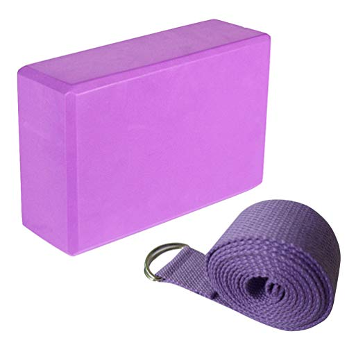 BESPORTBLE Yoga Blocks and Strap Firm EVA Foma Lightweight Comfortable Yoga Accessories Yoga Essentials for Yoga