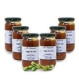 Carioni Food & Health Salsa ragú con Soja Texturizada, ecológica y Vegana -190 gr (Paquete de 6 Piezas)