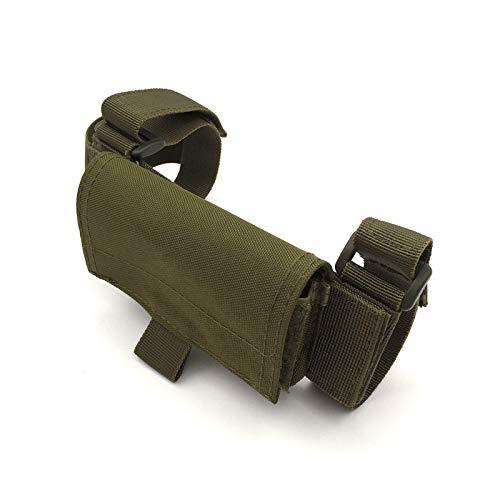 Tactical Tragbare Gills Tasche, Außen Gun Schulterstütze Schaftbacke Pad, Multifunktionsgewehr Schulterstütze Hülse, Ammo Halter Für Jagd, Cs Wargame, Paintball,Grün