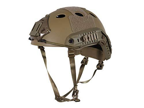 BEGADI Basic 'Parajumper Fast' Combat Helm, für Airsoft, mit umfangreichem Zubehör - TAN -