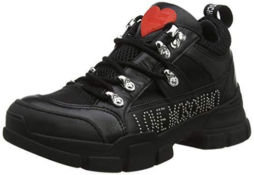 Love Moschino Scarpadonna Trekking, Baskets Hautes Femme, Noir (Nero 00a), 35 EU