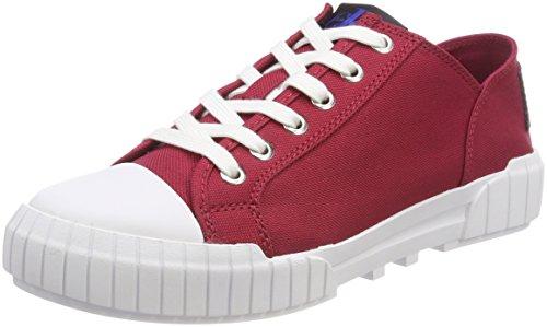 Calvin Klein Jeans Damen Bianca Nylon Sneaker, Rot (DRD 000), 36 EU