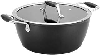 LJBH Non-stick Pan, 24cm Soup Pot, Milk Pan, Instant Noodle Cooker, Soup Pot, Induction Cooker high quality (Color : Blac...