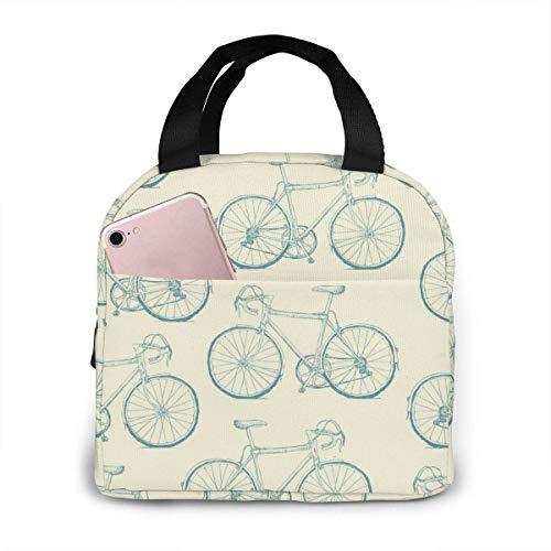 Bolsa de almuerzo aislada porttil de Navidad dibujada a mano, bolsa Bento impermeable para oficina, escuela, senderismo, playa, picnic, pesca