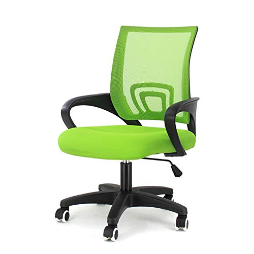 EUCO Computer Desk Chair Green Executive Office Chair Ergonomic Mesh Upholstered Seat Swivel Task Chair