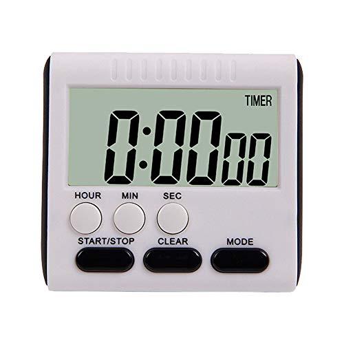 Demarkt – Temporizador de Cocina Digital con Soporte para Temporizador de Cocina de 24 Horas, Temporizador electrónico y cronómetro, Alarma Sonora, Negro, 79,5 * 73 * 29mm