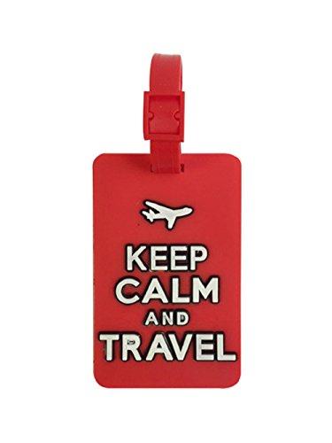 Etiqueta para equipaje ,Tag bolsa de viaje (Keep Calm-Rojo)NOVAGO ®