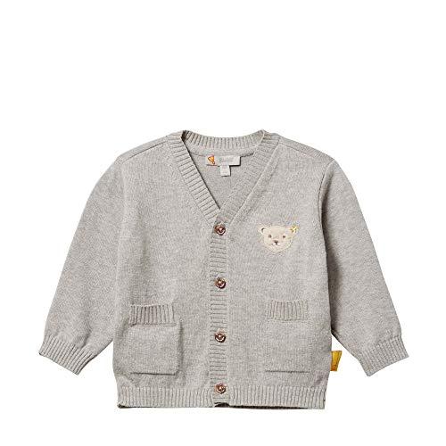 Steiff Baby-Jungen Strickjacke, Grau (Gray Violet 9008), 74