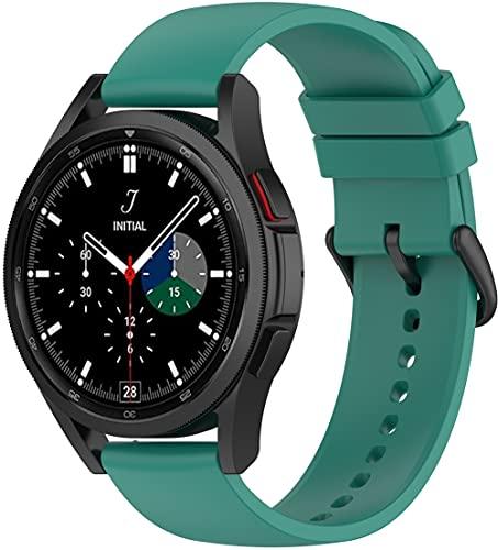 Gransho Correa de Reloj Compatible con Galaxy Watch 4 44mm / Watch 4 Classic 46mm, Silicona Correa Reloj con Acero Inoxidable Hebilla desplegable (22mm, Pattern 3)