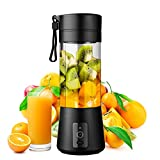 WATSMAR Portable Blender, Personal Size Blender Smoothies and Shakes, Mini Blender 4000mAh USB Rechargeable with Six Blades, Handheld Blender Sports,Home,Travel (BLACK)