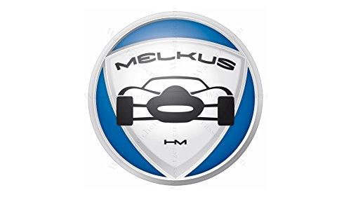 Sticker-Designs 5cm!4Stück! Klebe-Folie Wetterfest Made-IN-Germany kompatibel für: Melkus Logo Auto AD281 UV&Waschanlagenfest Auto-Aufkleber-Rad-Narbenkappen-Deckel-Tuning