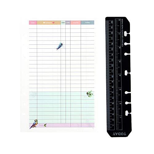 YHH A5 Recambio Libro de Presupuestos,Hojas para Gastos Hogar Family Budget Planner Planificador mensual de finanzas personales Bill Organizer,Páginas Agenda/Libreta 6 Anillas,Personal Finance colors ⭐