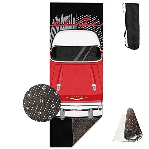 Kanaal Chevrolet Bel Air 1957 - Rode en witte draagbare vloer te verbeteren Yoga 61cm*180cm Pilates Of Ballet Barre Oefening Niet Slip Multi Purpose Fitness Mat