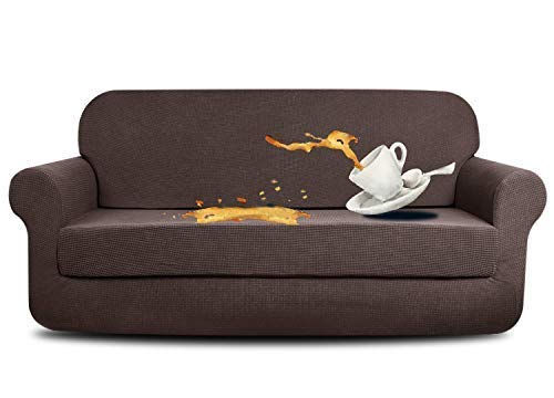 AUJOY Stretch 2-Piece Sofa Covers Water-Repellent Dog Cat...