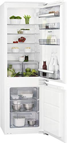 AEG SCB618F3LF - Refrigerador/congelador empotrable (altura del nicho: 178 cm, 261 L, tecnología de puerta fija, LowFrostmatic, Flexi-Space