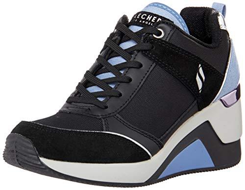 Skechers Women's Million-High N' Fly Sneaker, Black, 8.5