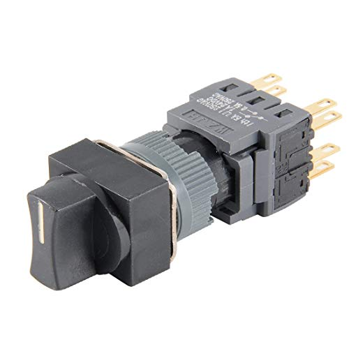 New Lon0167 AC 250V Destacados 5A DPDT 8P eficacia confiable ON-OFF-ON 1/0/2 Interruptor selector rotativo de 3 posiciones de cabeza cuadrada(id:32e 2b 51 38b)