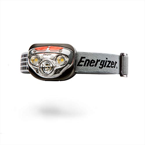Energizer LED Headlamp Flashlight, 400 High Lumens, For Camping Accessories, Running, Hiking, Emergency Light, Survival Kit Head Lamp, Rechargeable Headlamp Option, Water-Resistant Headlight, Old Version: Gray