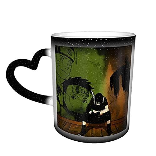 Hirola Sasuke Uchiha, Naruto Color in The Sky Tazas de cerámica sensibles al calor, taza de café, tazas mágicas y divertidas, regalos personalizados para amantes de amigos