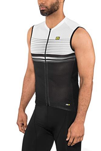 Alé Cycling Graphics PRR Slide Ärmelloses Trikot Herren Black-White Größe L 2020 Radtrikot ärmellos