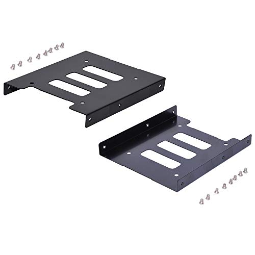 2.5' to 3.5' SSD HDD Hard Drive Adapter Bay Holder Mounting Bracket (2 Pack)