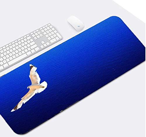 Vliegende vogels over de zee grote grootte muismat dieren patroon landschap vogels tafel muis Mat Pad Pc Computer Game Gaming muismatten versieren 900 * 400 * 3Mm
