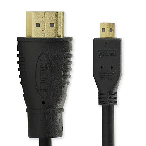 subtel HDMI Kabel (3m, Micro HDMI) für ODYS Evolution 12 / Space/Vito/Windesk X10 / Winpad V10, 10, 12 / Wintab 10