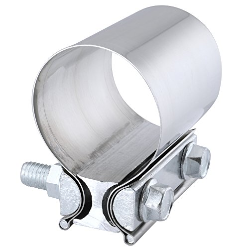 EVIL ENERGY 3.0 Inch Butt Joint Exhaust Band Clamp Sleeve Stainless Steel