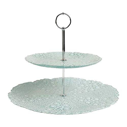 COTE TABLE Serviteur 2 étages Verre D32xH26 cm
