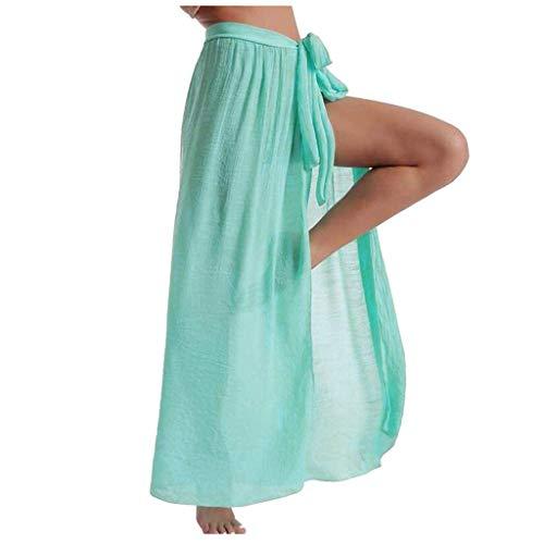 Señoras De La Falda Maxi con La Clásico Raja Delantera De La Cintura Alta Vestido Largo Abierto del Partido Delgado Elástico De La Cintura De Playa Verano