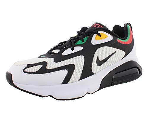 Nike Herren AIR MAX 200 Traillaufschuhe, Mehrfarbig (White/Black-Bright Crimson 101), 42.5 EU