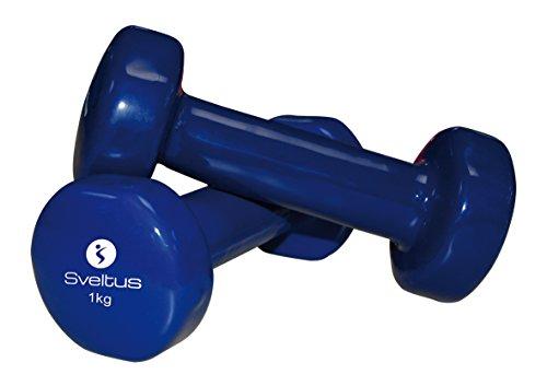 Sveltus Lot de 2 haltères Bleu 1 kg