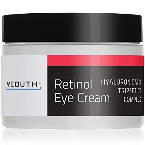 Retinol Augencreme 2,5{e05351d2854815d91d67854c5ba714920b4e6466363f70302e89682b49ae84e6} von YEOUTH verstärkt mit Retinol, Hyaluronsäure, Koffein, Grüner Tee, Anti-Falten, Anti-Aging, straffe Haut, gleichmäßiger Hautton, feuchtigkeitsspendend und hydratisierend.1oz