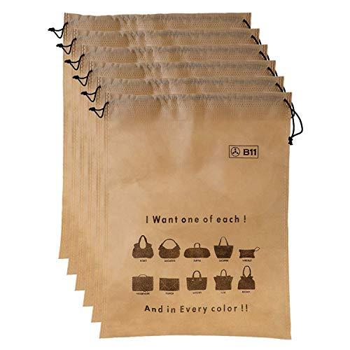 B11 Women Handbag Covers Storage Bag dust Cover Large Size (Set of 6 Pcs) 18X22 Inch, Beige